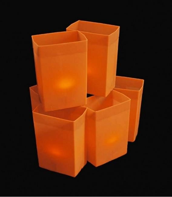 Set of 6 Orange Luminaries