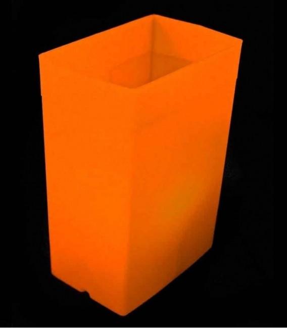 Orange Luminary with Orange Light Bulb