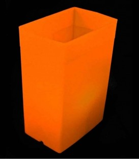 Orange Luminary with Orange Light Bulb
