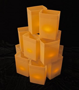 Set of 12 Brown Luminaries