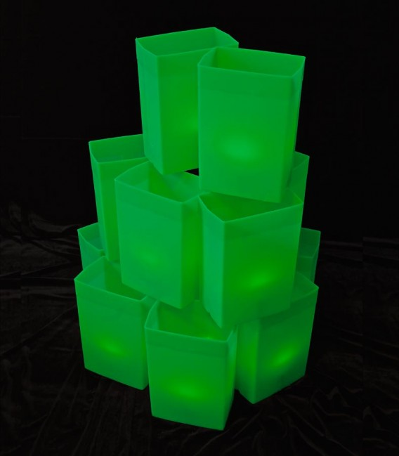 Set of 12 Green Luminaries