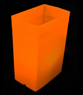 Orange Luminary with LED Tealight inside