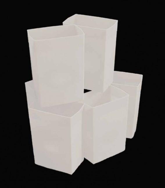 Set of 6 White Luminaries
