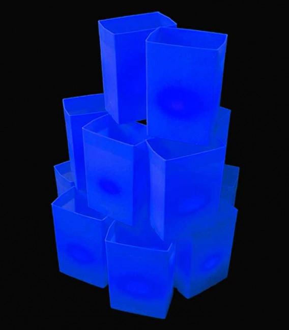 Set of 12 Blue Luminaries