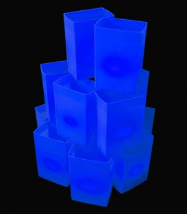 Set of 12 Blue Luminaries