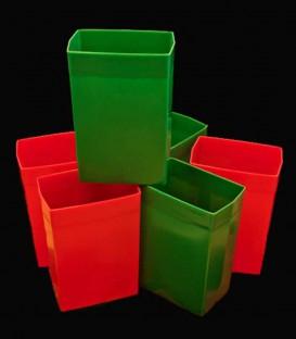 Set of 6 Red/Green Luminaries