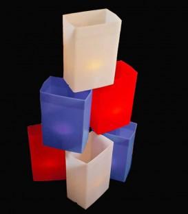 Set of 6 Patriotic Luminaries