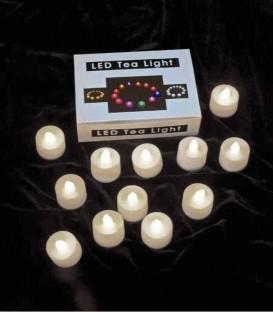 Set of 12 Timer Warm White LED Tea Lights