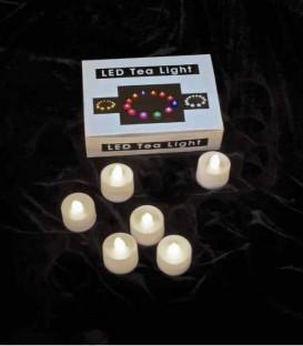 Set of 6 Timer Warm White LED Tea Lights