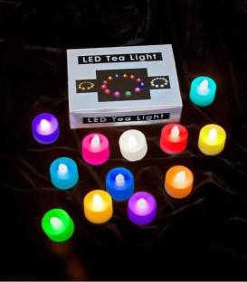 Set of 12 Color-Changing LED Tea Lights
