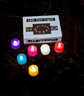 Set of 6 Color-Changing LED Tea Lights