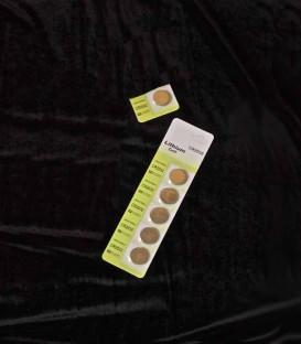Set of 6 Batteries for Tea Lights