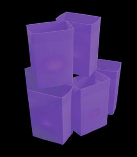 Set of 6 Purple Luminaries