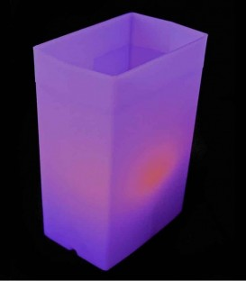 Purple Luminary with LED Tea Light inside
