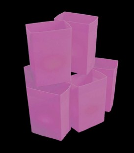 Set of 6 Pink Luminaries