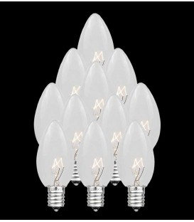 Set of 13 Replacement C7 Light Bulbs