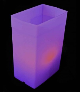 Individual Purple Luminary lit with warm white LED Tea Light