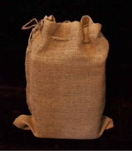 Set of 12 Snug Burlap Bags