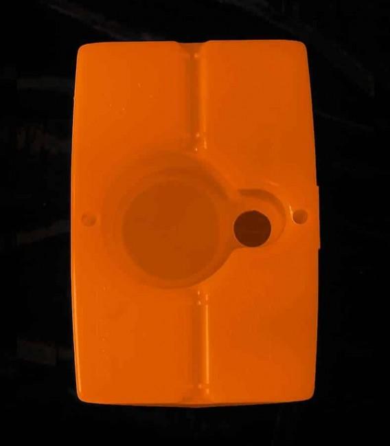 View of Orange Luminary bottom