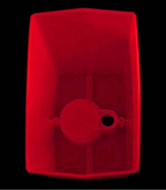 View looking inside Red Luminary