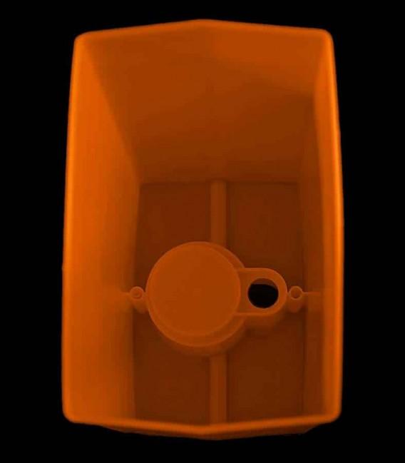 View looking inside Orange Luminary