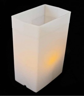 White Luminary with LED Tealight inside