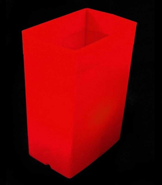 Red Luminary with Red Light Bulb