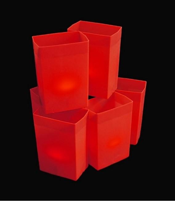 Set of 6 Red Luminaries