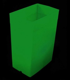 Green Luminary with Green Light Bulb